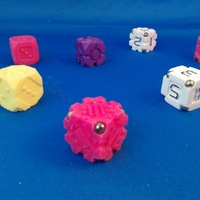 Small EarthDice variation 6 - Gears 3D Printing 125490