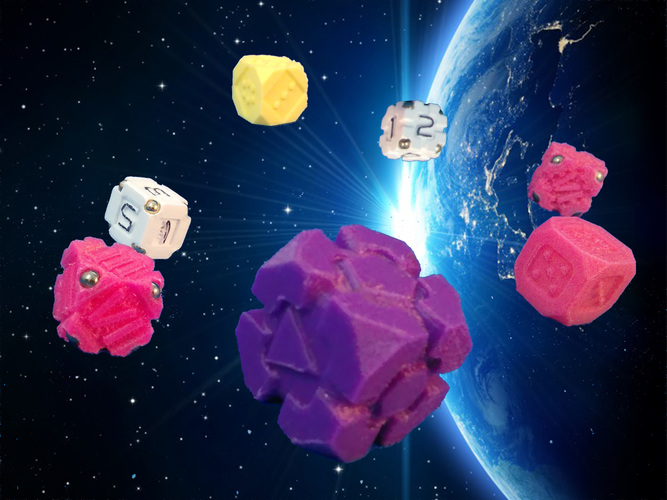 SpaceDice Variation 3 - Space Dice Plus 3D Print 125509