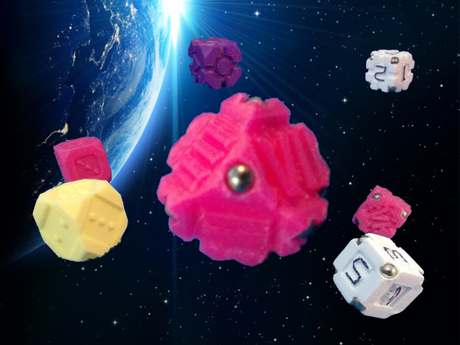 Space Dice Variation 5 - Corners 3D Print 125518