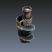 Small Spiral tower 3D Printing 125572