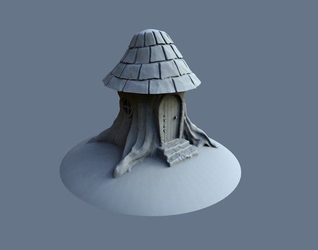 Tree stump house 3D Print 125574