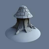 Small Tree stump house 3D Printing 125574