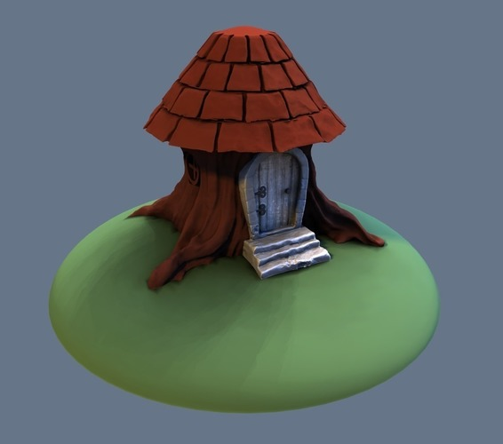 Tree stump house 3D Print 125575
