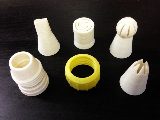 Nozzles for Pastry Bag  3D Print 125645