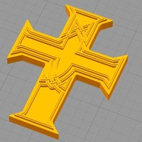 Small Guns and Roses Appetite for destruction Cross 3D Printing 125694