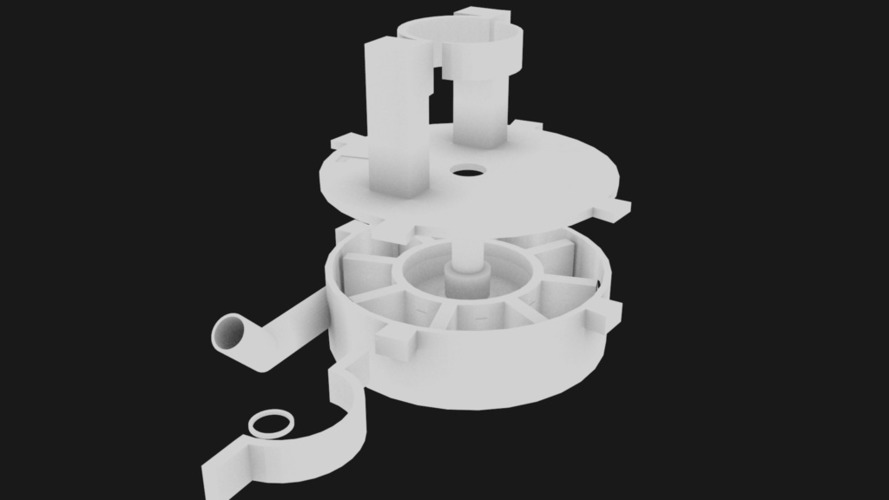 Impeller Pump top Mountable motor 3D Print 125700
