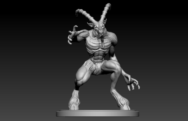 Medium Goat Demon 3D Printing 125744