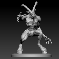 Small Goat Demon 3D Printing 125744