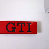 Small VW golf2 GTI side door badge 3D Printing 125817