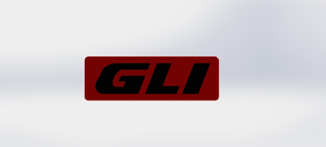 VW golf2 GLI side door badge 3D Print 125841