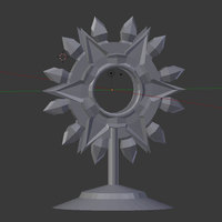 Small Spiritual Weapon Token 3D Printing 125894