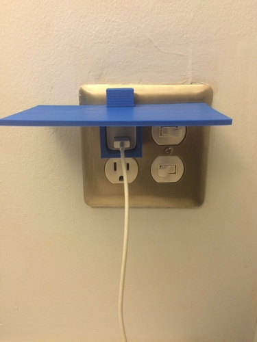 Iphone Outlet Shelf/platform 3D Print 125923