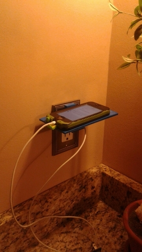 Iphone Outlet Shelf/platform 3D Print 125924