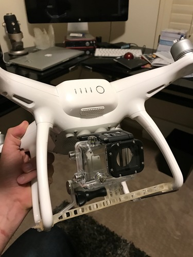 DJI Phantom 4 Flight Rack w/GOPRO mount 3D Print 125980