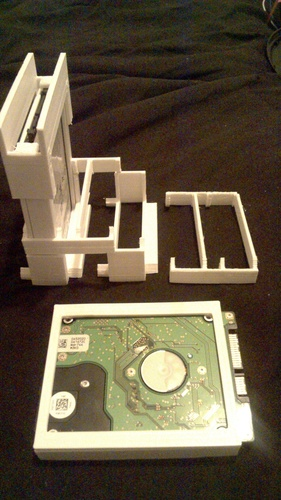 Stackable racking caddy For SSD or HDD 3D Print 126075