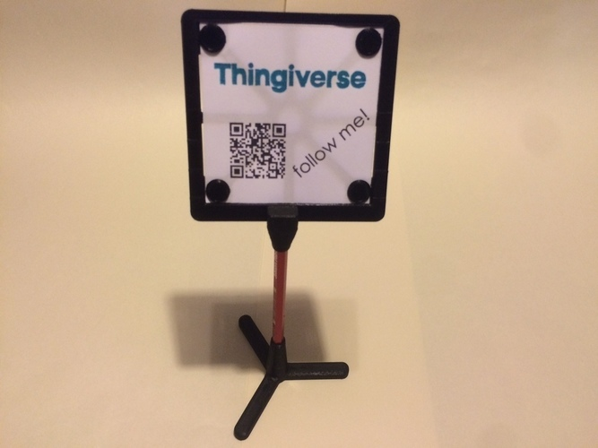 Display Frame and Stand 3D Print 126113