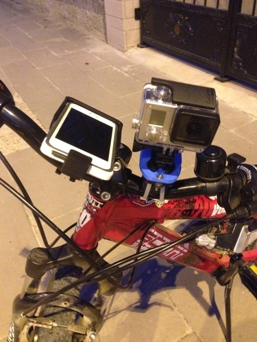 GoPro & iPhone 5 Universal Bike Mount 3D Print 126149