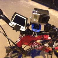 Small GoPro & iPhone 5 Universal Bike Mount 3D Printing 126149