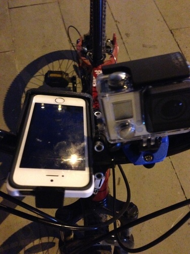 GoPro & iPhone 5 Universal Bike Mount 3D Print 126152