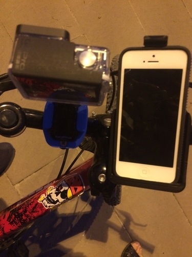 GoPro & iPhone 5 Universal Bike Mount 3D Print 126155