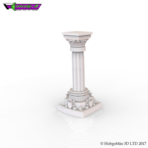 HG3D Dungeon Pillar - 28mm 3D Print 126182