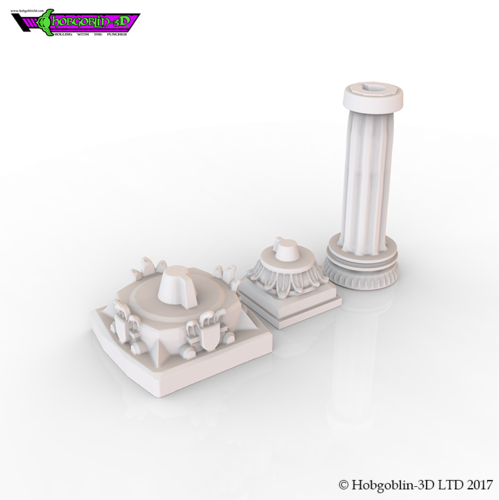 HG3D Dungeon Pillar - 28mm 3D Print 126183