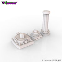 Small HG3D Dungeon Pillar - 28mm 3D Printing 126183