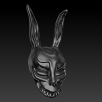 Small Donnie Darko's mask 3D Printing 126245
