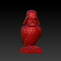 Small Darth Vader owl (remix) 3D Printing 126256