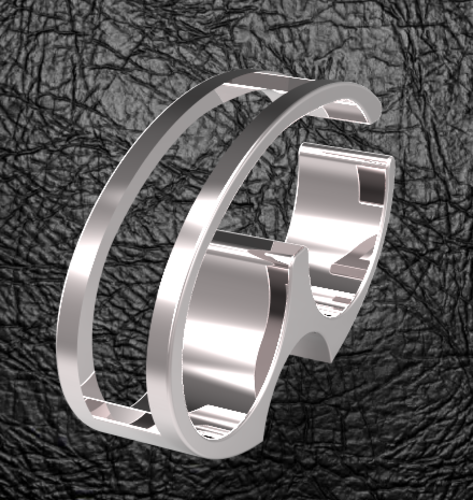 double finger oval mensring 3D Print 126270