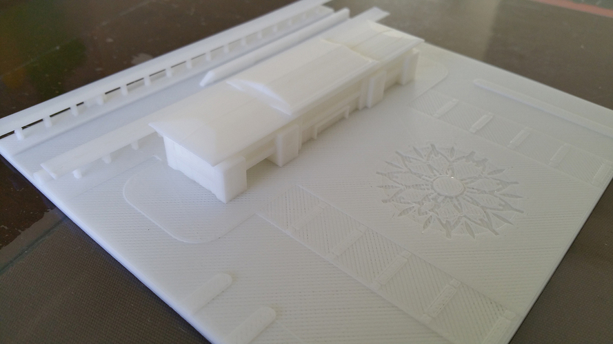 The high speed railway station design 3D Print 126308