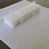 Small The high speed railway station design 3D Printing 126308