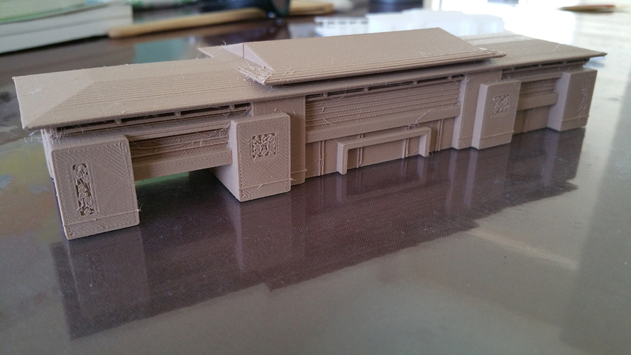 The high speed railway station design 3D Print 126311