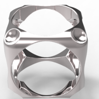 Small Cube Ring 3D Printing 126379