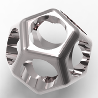 Small dodecahedron ring 3D Printing 126435