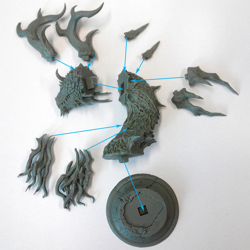 Forest Dragon 3D Print 126477