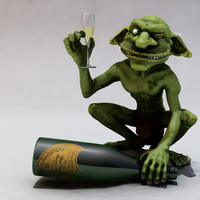 Small grinning Goblin 3D Printing 126506