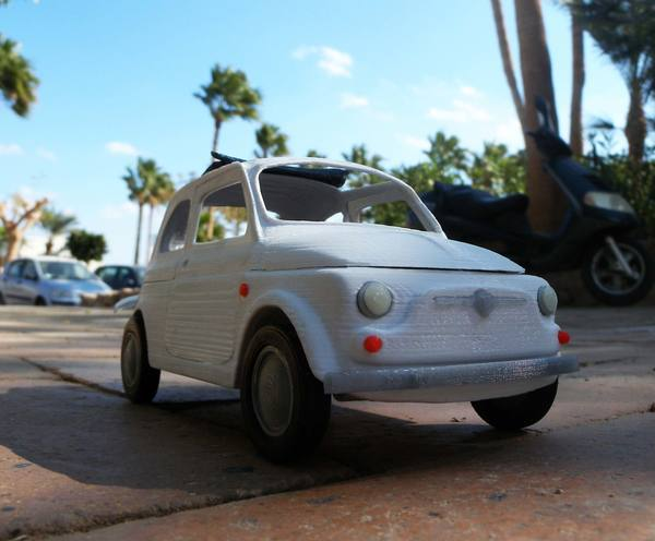 Medium Italian Sixties  Car Model 3D Printing 12660