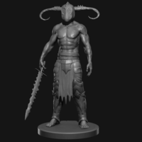 Small Warrior 3D Printing 126657