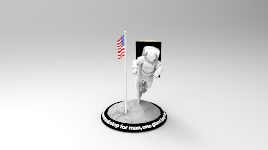 Astronaut Smart Phone Stand (Neil Armstrong) 3D Print 126741