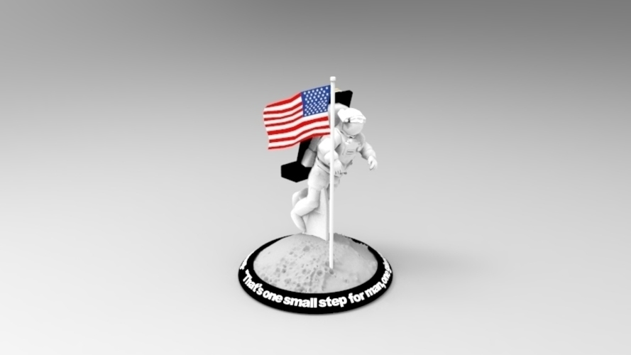 Astronaut Smart Phone Stand (Neil Armstrong) 3D Print 126742