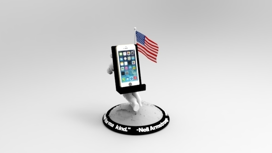 Astronaut Smart Phone Stand (Neil Armstrong) 3D Print 126743