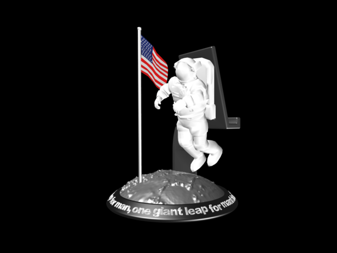 Astronaut Smart Phone Stand (Neil Armstrong) 3D Print 126745