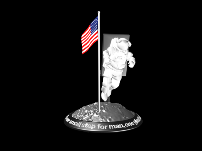 Astronaut Smart Phone Stand (Neil Armstrong) 3D Print 126746