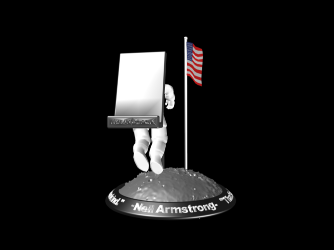 Astronaut Smart Phone Stand (Neil Armstrong) 3D Print 126749