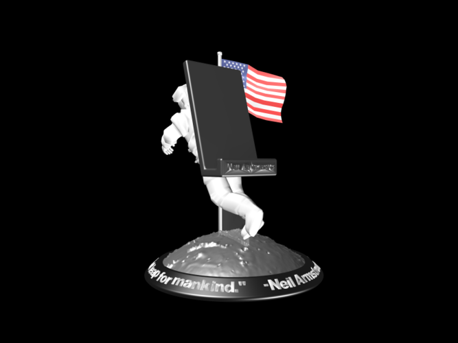 Astronaut Smart Phone Stand (Neil Armstrong) 3D Print 126750