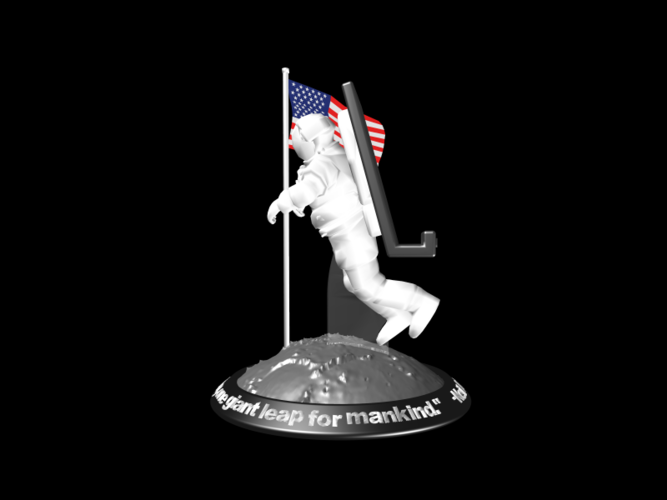Astronaut Smart Phone Stand (Neil Armstrong) 3D Print 126751