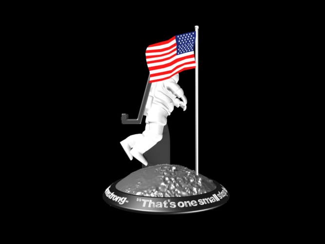 Astronaut Smart Phone Stand (Neil Armstrong) 3D Print 126752