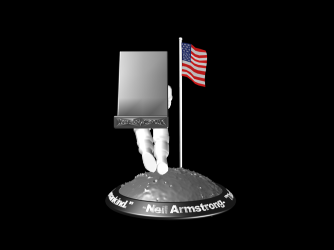 Astronaut Smart Phone Stand (Neil Armstrong) 3D Print 126753