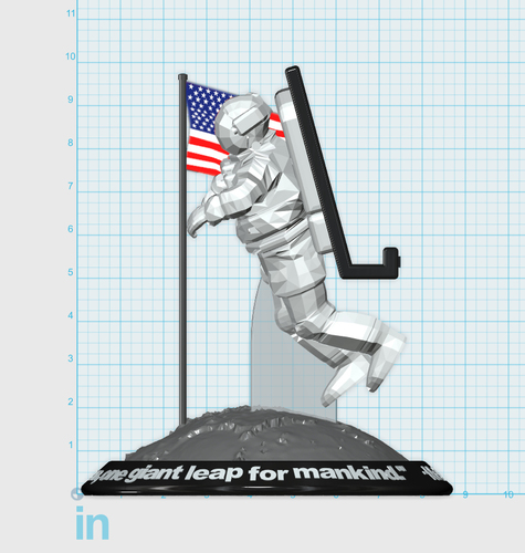 Astronaut Smart Phone Stand (Neil Armstrong) 3D Print 126755